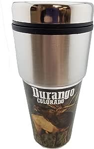 不锈钢 567g 旅行杯 - 户外狩猎纪念品马克杯 男式 - 送给猎人、爸爸、丈夫、兄弟、叔叔的*礼物 Durango CO Elk 20 OZ