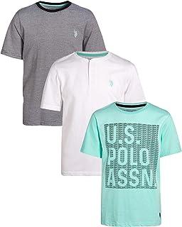 U.S. Polo Assn. 男童時尚 T 恤(3 件裝)