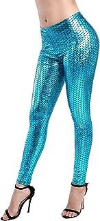 钻石 KEEP IT 女式美人鱼 Fish 比例印花全长打底裤