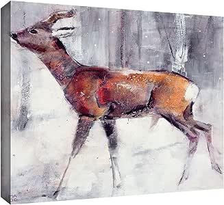 ArtWall Mark Adlington 'Buck' Gallery Wrapped Canvas Artwork, 14 by 18-Inch