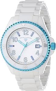 Swiss Legend 男式 11528-WWLBLA 夜光白色表盘白色陶瓷手表