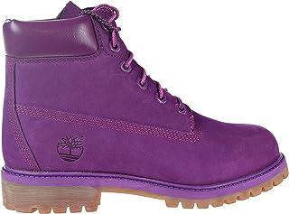 Timberland 儿童6英寸(约15.2厘米)优质防水童靴 Bright Purple/Nubuck 6.5 M US Big Kid