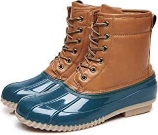 Hunt Duck Boots 女士雨靴时尚中筒靴西部滑动雪地皮革雨靴水鞋