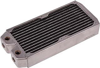 Alphacool 骑 NexXxoS Radiator 变化 (亚马逊, 非普通销售) 银白色 XT45/240mm/Silver Nickel