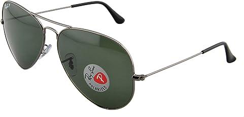 Ray-Ban 雷朋 飞行员系列偏光太阳眼镜RB3025 004/58 62枪框墨绿玻璃镜(进口)