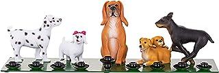 优质 Judaica 可爱光明节狗主题烛台,树脂和金属