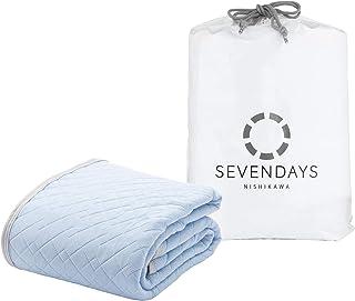东京西川 凉席 触感清凉 双网眼透气UP SEVENDAYS Sevendeys 蓝色 クイーン PM39001542B