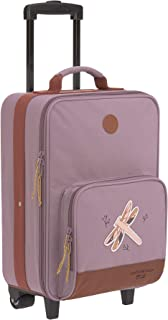 LÄSSIG 儿童旅行箱带行李箱,带行李带和轮子 3 岁以上儿童推车,冒险 紫色