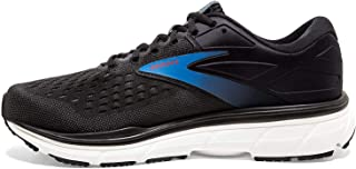 Brooks 男式 Dyad 11 跑鞋,黑色/乌木色/蓝色,美国尺码 10.5