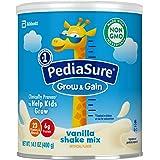 PediaSure 雅培小安素 Grow & Gain 儿童营养奶昔 Non-GMO,含蛋白质、DHA、抗氧化剂、维生素和矿物质,香草味,14.1盎司/400克,3件