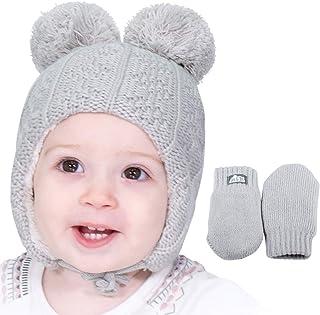 温暖可爱婴儿幼儿儿童秋季冬季护耳毛线帽
