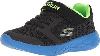 Skechers Go Run 600-Roxlo 儿童运动鞋 黑色/蓝色/绿黄色 2 M US 儿童