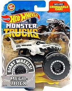 Hot Wheels Monster Trucks 2020 1:64 比例压铸卡车 可压碎汽车 黑白 3/6 Mega Wrex