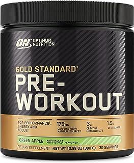 Optimum Nutrition Gold Standard 锻炼前维生素D,肌酸,β-丙氨酸和咖啡因的能量,对酮友好,青苹果,30份(包装可能有所不同),10.58盎司,300克