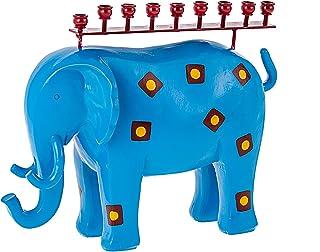 质量 Judaica 现代大象烛台 大象灰