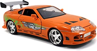 Jada Toys Fast & Furious 1 24 压铸丰田 Supra 汽车 1: 24 Scale 橙色