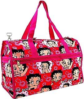 Betty Boop 大号行李袋,耐用超细纤维 Pink D Hook 大