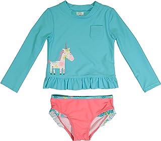 Kiko & Max 女孩套装长袖*衣游泳衬衫