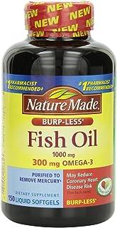 Nature Made莱萃美鱼油 1000 毫克300 毫克Omega3 150 液体软胶囊