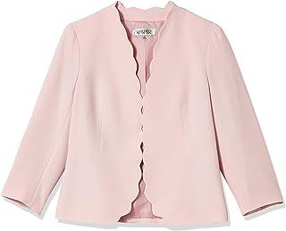 Kasper 女式长袖弹力绉纱扇形边夹克
