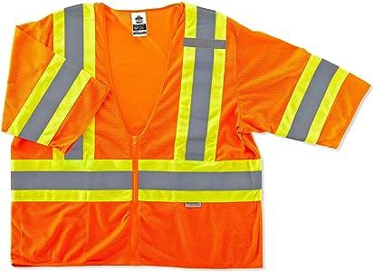 Ergodyne GLoWEAR 8330Z Class-3 Two-Tone Vest, Orange, 2X-Large/3X-Large