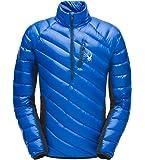SPYDER 男式雪花混合半拉链防水夹克,适合冬季运动