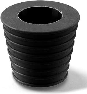 PAGOW 雨伞锥形楔形,遮阳伞底座,露台桌孔环插头,用于庭院台孔开口或底座支架 1.94 至 2.7 英寸(黑色)