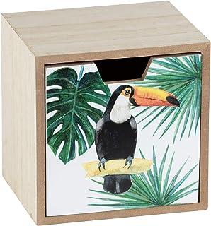Wenko Tucan 收纳盒,带抽屉 MDF 12 x 10 x 12 厘米 多色