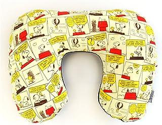 日本制史努比 Snoopy 毛绒颈枕(总动员图案系列 )  象牙色 大人用(一般サイズ)