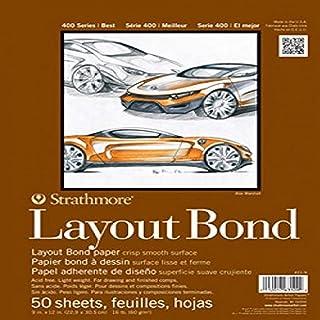 Strathmore 411-14 400 系列布局粘合垫,35.56 厘米 x 43.18 厘米胶水绑定,50 张