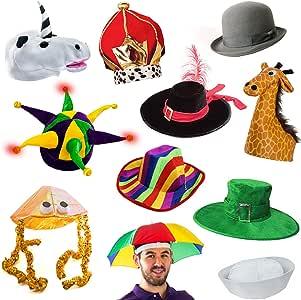 有趣派对帽 6 种装扮服和派对帽 多色 6 Adult Costume Hats p-6hats