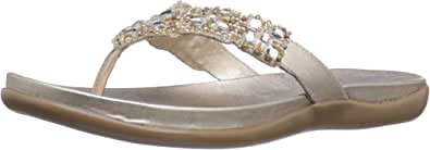 Kenneth Cole REACTION Women's Glam Athon Sandal,Champagne,5 M US