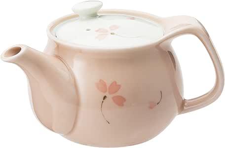 不易磨损、易碎 有田烧 功能生活釉具 樱花 U型带滤茶壶 粉色(450c)