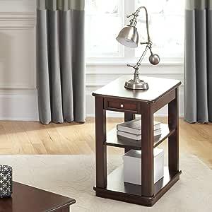 Liberty Furniture Industries Wallace 休闲椅茶几,宽15×深26×高24,深棕色