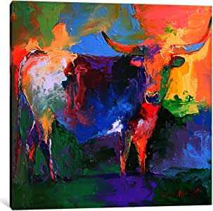 iCanvasART 9626-1PC3-26x26 Bull Canvas Print by Richard Wallich, 0.75 by 26 by 26-Inch