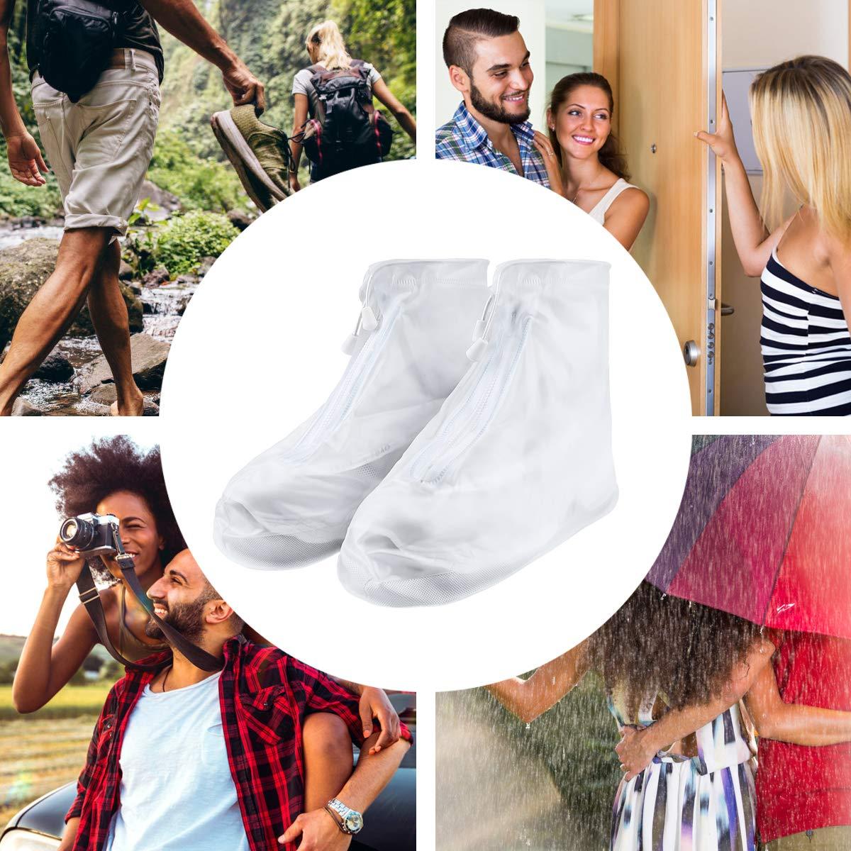 Hillup 雨鞋套,可重复使用雨水旅行户外防水鞋套,男女皆宜,保持鞋干爽干净