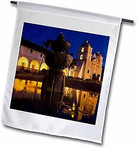 danita delimont–加利福尼亚–CA , Santa Barbara , Mission Santa Barbara - US05wbi1041–Walter bibikow–绘图本国旗 12 x 18 inch Garden Flag