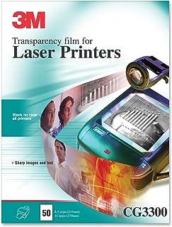 3M 产品 - 3M - 黑白激光打印机透明胶片,透明,信纸,50/盒 - 单盒出售 - 使用您的激光打印机创造高质量高档透明度。
