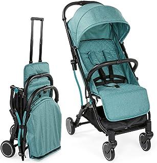 Chicco 智高 Trolley Me 婴儿车如行李箱手推车,出生至15公斤,单手锁定机制,包括运输把手和防雨罩,黑色 Emerald
