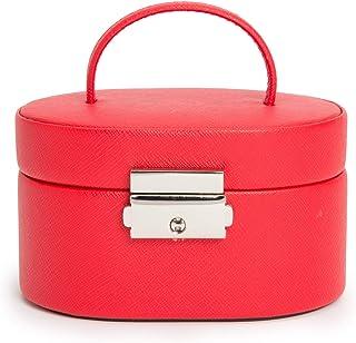 WOLF Heritage 迷你椭圆盒,红色十字纹