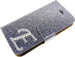 独特-紫色 索尼 Xperia Z L36 H 魅力 闪光水钻 盒子 翻转 外壳 外壳 外壳 外壳 带有磁力扣SON-XP-Z-L36H-Etui-Glamour-E-Grau E 灰色