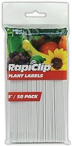 Luster Leaf Rapiclip 6-Inch Garden Plant Labels - 50 Pack 840