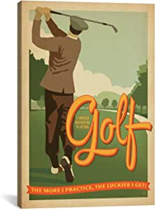 iCanvasART ADG221 Golf Bad Day by Anderson Design Group Canvas Print, 18 by 12-Inch, 0.75-Inch Deep