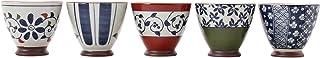 有田烧 染锦各种煎茶碗 5种图案组