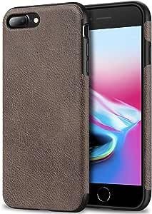 Bisikor iPhone 手机壳皮革纹理设计超薄手机壳,适用于 iPhoneLEA-GRA-7P iPhone 7 Plus/iPhone 8 Plus iPhone 7 Plus / 8 Plus - Gray