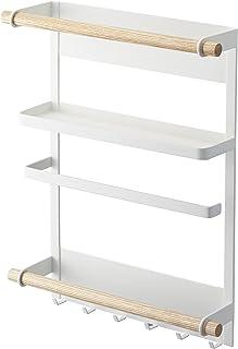 山崎實業(YAMAZAKI) 磁鐵型廚房用紙支架 冰箱側架 白色 2901