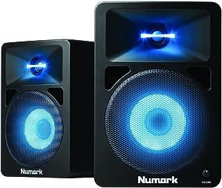 Numark N-Wave 580L | 动力桌面 DJ 监视器音箱,带脉冲 LED 灯(5.25 英寸低音炮 / 40 瓦)
