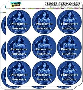 """神奇女侠电影《人性保护》计划员日历剪贴簿手工贴纸 不透明 18 2"""" Stickers SCRAP.STICK02.WBGAM094.Z005107_8"""