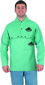 MCR Safety 39100L 耐火棉织物焊接盖袖带露背,绿色,L 码 中 39100M