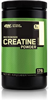 Optimum Nutrition Micronised Creatine Monohydrate formulated for Muscle Development by ON - Unflavoured, 176 Servings, 634g